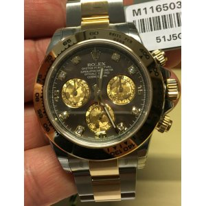 Rolex [NEW] 116503G Gold Crystal Diamond Mother Of Pearl Watch