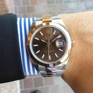 Rolex [NEW] 126301 Datejust 41mm 18K/SS with Chocolate Dial Watch