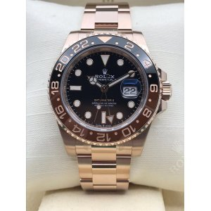 Rolex [NEW 2018 MODEL] GMT-MASTER II Full Rose Gold 126715CHNR