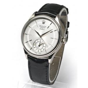 Rolex [NEW] 50529 Silver Guilloche WG Cellini Dual Time 39mm (List Price: HK$151,000)