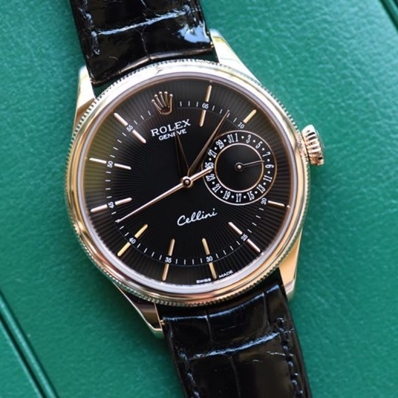 Rolex NEW Cellini Date Watch 39mm 50515 Black Dial (Retail:HK$138,800)