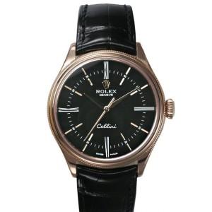 Rolex [NEW] Cellini Time 50505 Rose Gold Black Dial (Retail:HK$118,500)