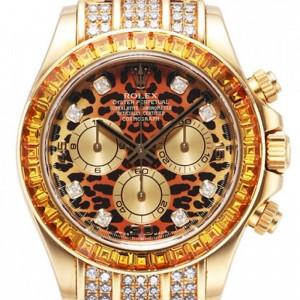 Rolex [NEW] Cosmograph Daytona 116598 SACO L(FC)-8DI. Leopard. YG (Retail:HK$517,300) - SOLD!!