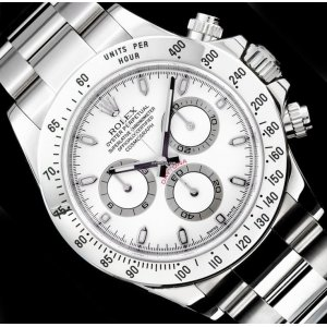 Rolex [NEW] Cosmograph Daytona Steel 116520 White Dial Watch - SOLD!!