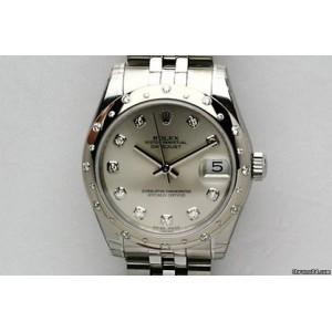 Rolex [NEW] Datejust 178344 Ladies Midsize 31mm Silver Diamond