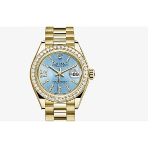 Rolex [NEW] Datejust 28mm CornFlower Blue Diamonds President Bracelet (Retail:HK$281,500)