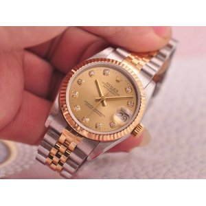 Rolex [NEW] Datejust 31mm 178273G Champagne Diamond Ladies Watch