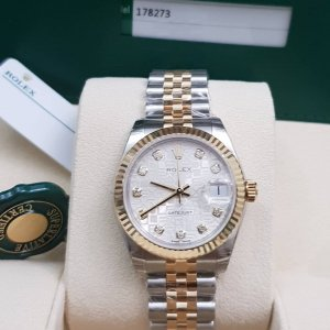Rolex [NEW] Datejust 31mm Ladies 178273J Jubilee Silver Diamond Jubilee