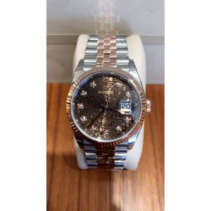 Rolex [NEW] Datejust 36mm 126231J Chocolate Diamond Dial & Fluted Bezel Jubilee