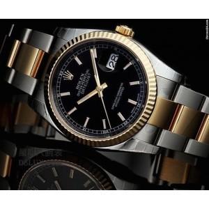 Rolex [NEW] Datejust Mens 116233 Black Index 36mm (Retail:HK$78,500)