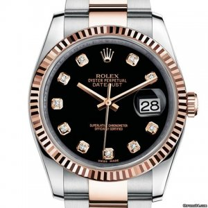 Rolex [NEW] Datejust series 116231-63601 G Men automatic mechanical watch black diamond plate 10 (List Price: HK$94,700)