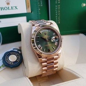 Rolex [NEW] Day-Date 40mm President Everose Gold 228235 Green 60th Anniversary
