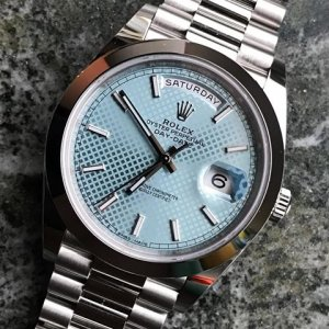 Rolex [NEW] Day-Date Platinum 228206 Ice Blue Quadrant Roman 40mm (Retail:HK$480,000)