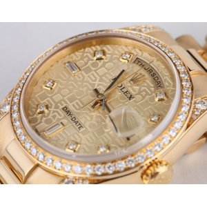 Rolex [NEW] Day-Date President 118338 Mens 18K Yellow Gold Diamond (Retail:HK$275,800)