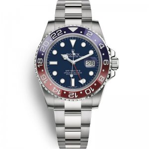 Rolex [NEW] Gmt-Master II White Gold 116719BLRO BLUE Dial Watch