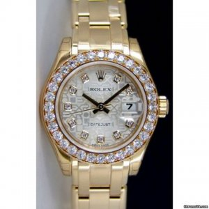 Rolex [NEW] Lady Datejust Yellow Gold Pearlmaster - Silver Jubilee - 80298-72948 (Retail:HK$324,800)