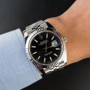 ROLEX [NEW] MENS DATEJUST II 126334 BLACK DIAL WATCH