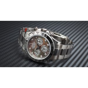 Rolex [NEW] Oyster Cosmograph Daytona 116509 White Gold Black Mother of Pearl Diamond (Retail:HK$302,700) - SOLD!!