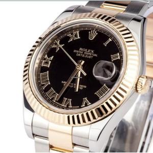 Rolex [NEW] Oyster Perpetual Datejust II 116333 Black Roman (Retail:HK$84,100)
