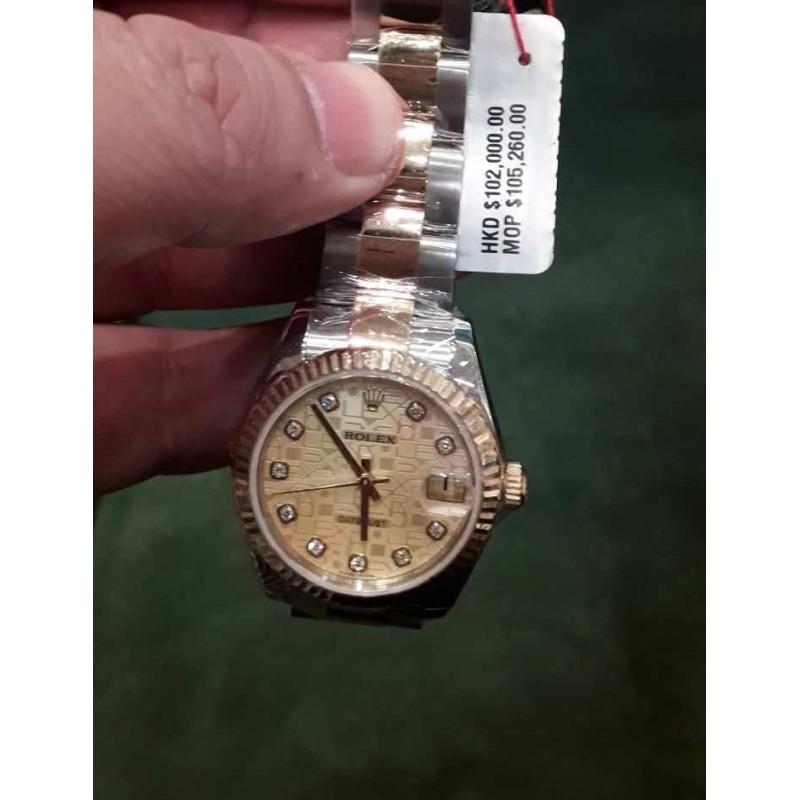 Rolex NEW-全新 31mm Midsize Datejust 178273 Rolex Anniversary Dial Watch (Retail:HK$102,000)