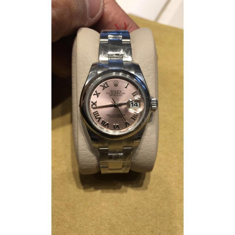 Rolex NEW-全新-香港行貨 Datejust 179160 Pink Salmon Roman Dial 26mm Ladies (Retail:HK$45,800)