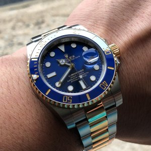 Rolex [NEW] Oyster Perpetual Blue Submariner Date 116613LB (Retail:HK$94,700)