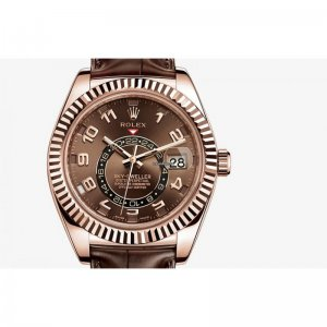 ROLEX [NEW] SKY-DWELLER 42mm EVEROSE GOLD CHOCOLATE DIAL 326135 (Retail:HK$307,600)