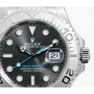 Rolex [NEW] SS/Plat SS 40mm Yacht-Master 116622 Rhodium Dial Watch