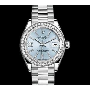 Rolex 全新 Ladies Datejust 28mm Platinum 279136RBR (Retail:US$57,000)