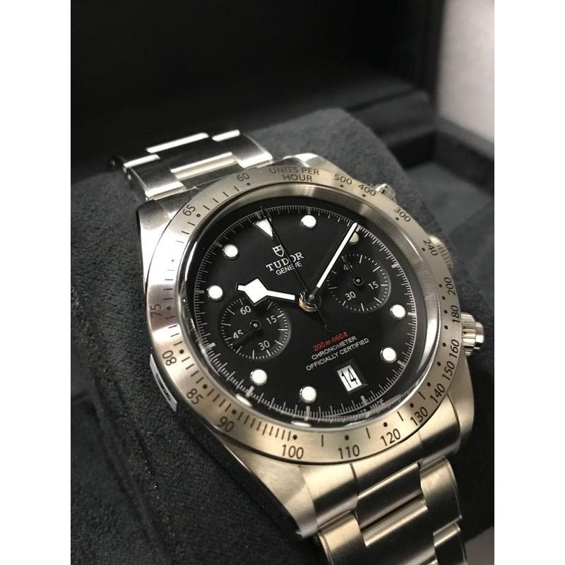 Tudor NEW-全新 79350 Steel Bracelet 2017 Heritage Black Bay Chrono 41mm