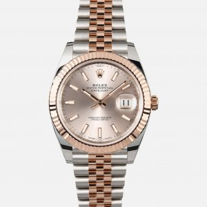 Rolex [NEW] Datejust 41mm 126331 Sundust Index Rose Gold Stainless Steel Jubilee