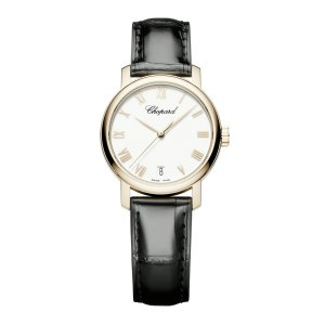 Chopard 全新 124200-5001 Classic White Dial 18kt Rose Gold Automatic Ladies Watch