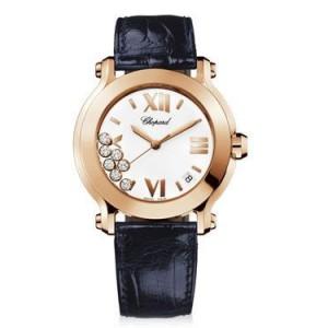 Chopard 全新 277471-5001 Happy Sport Round Quartz 36mm Ladies Watch