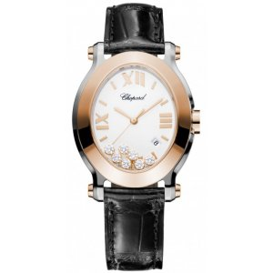 Chopard 全新 278546-6001HAPPY SPORT OVAL WATCH 18-CARAT ROSE GOLD STAINLESS STEEL AND DIAMONDS LADIES
