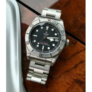 TUDOR [NEW] Heritage Black Bay Chronometer Automatic Black Dial 79730-0001