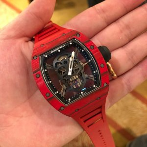 Richard Mille [NEW][LIMITED 10 PIECE] RM 52-01 Skull Red Quartz TPT Tourbillion