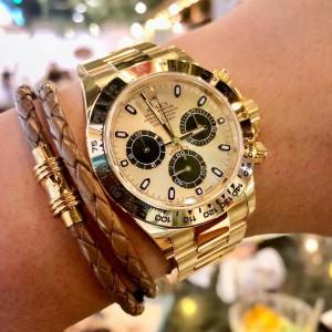 Rolex [NEW] 116508 Daytona Light Champagne New 2018 Dial YG Watch