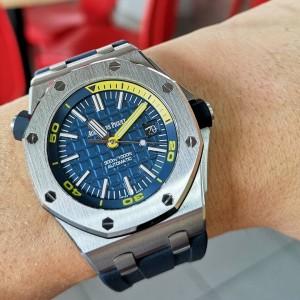 Audemars Piguet [NEW] Royal Oak Offshore Diver 15710ST.OO.A027CA.01 Blue Dial Watch