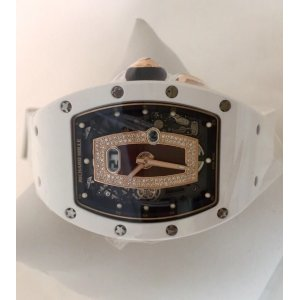 Richard Mille [NEW] RM 037 Ladies Automatic White Ceramic Rose Gold Red Lip (Retail:HK$1,017,000)