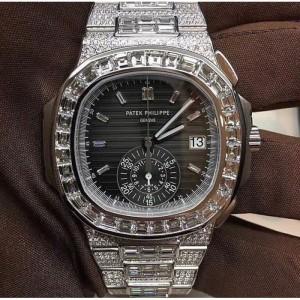 Patek Philippe [NEW] 5980/1400G-010 Nautilus Chronograph White Gold Watch