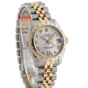 Rolex [NEW] Datejust 31mm Scattered Diamond Bezel 178343VI Silver Dial Jubilee Ladies