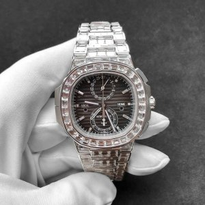 Patek Philippe NEW-全新 Nautilus Travel Time Chrono Haute Joaillerie 5990/1400G