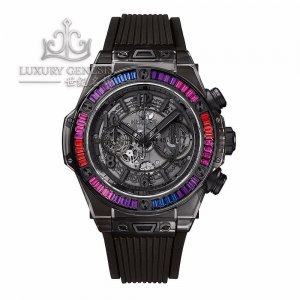 Hublot [NEW][LIMITED 50 PIECE] Big Bang 45mm Unico All Black Sapphire Galaxy 411.jb.4901.rt.4098