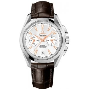 Omega [NEW] Aqua Terra 150m Co-Axial GMT Chronograph 43mm 231.13.43.52.02.001 (Retail:HK$73,000)