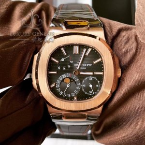 Patek Philippe [NEW] 5712R Nautilus Rose Gold Power Reserve Moonphase (Retail: HK$325,900)