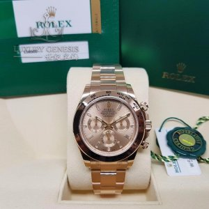 Rolex [NEW] Cosmograph Daytona 116505A Pink with Baguette 18K Rose Gold Watch