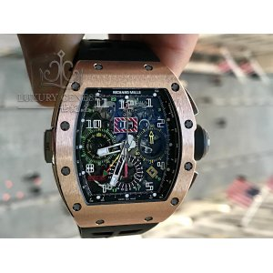 Richard Mille [2015 USED] 'Felipe Massa' RM 011 Rose Gold Automatic Mens Watch