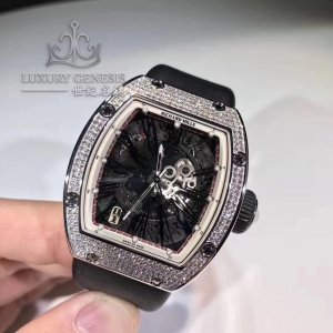 Richard Mille [NEW] RM 023 White Gold Full Set Pave Diamonds Mens Watch