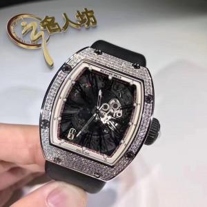 Richard Mille [NEW] RM 023 White Gold Full Set Pave Diamonds Mens Watch