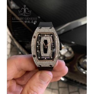 RICHARD MILLE [NEW] RM 07-01 WHITE GOLD LADIES FULL SET DIAMOND WATCH